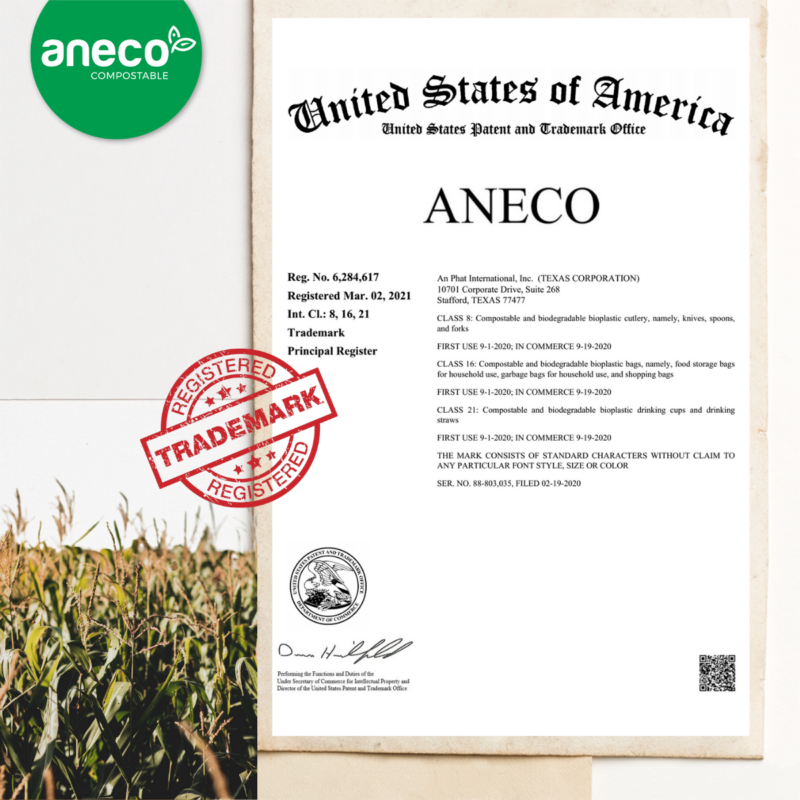 AnEco successfully applied for trademark in the United States