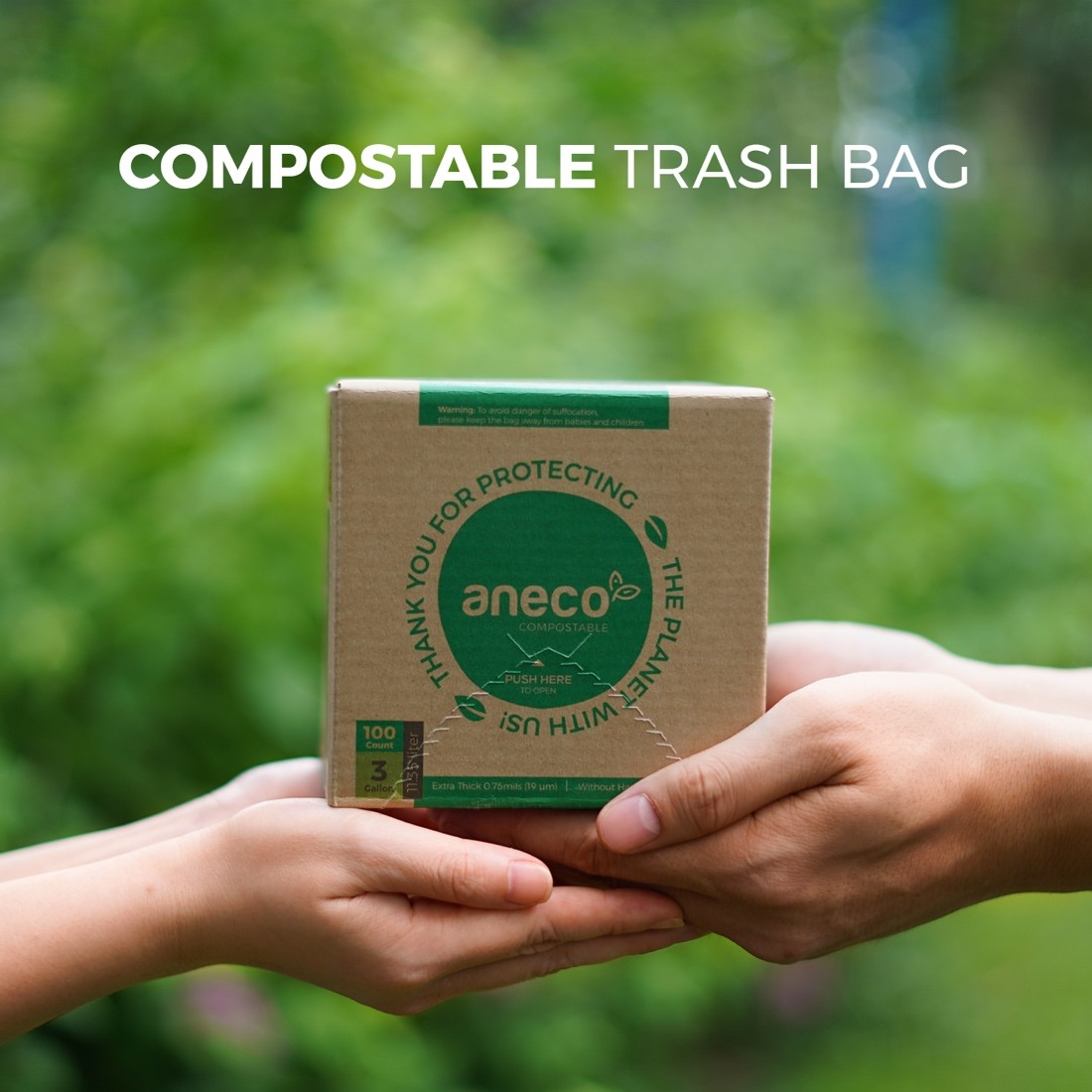 100% compostable products AnEco are now available on Amazon US