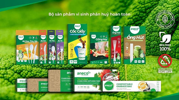 Bộ sản phẩm sinh học phân hủy hoàn toàn của AnEco
