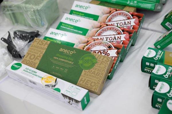 Túi sinh học phân hủy hoàn toàn AnEco được bày bán ở nhiều hệ thống siêu thị lớn