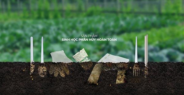 Sản phẩm từ nhựa PHSH sẽ phân hủy hoàn toàn trong điều kiện chôn lấp, ủ thích hợp