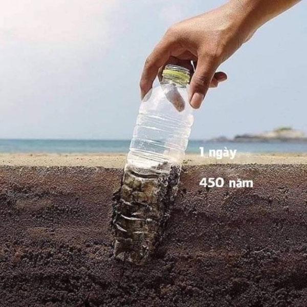 """Môi trường mất đến 450 năm mới có thể """"tiêu hóa"""" được chai nhựa sinh học không phân hủy sinh học"""
