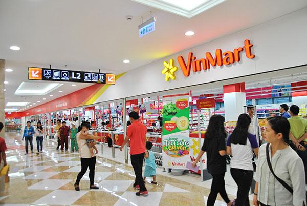 Hệ thống siêu thị Vinmart là nơi bày bán các sản phẩm túi sinh học của AnEco