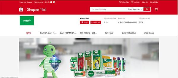 Đặt mua túi AnEco qua trang thương mại điện tử Shopee