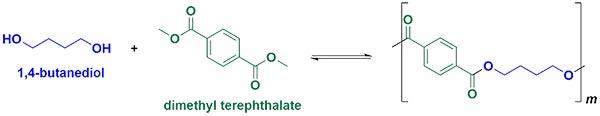 DMT và 1,4-butanediol được phản ứng với nhau để tạo ra polyeste thứ hai
