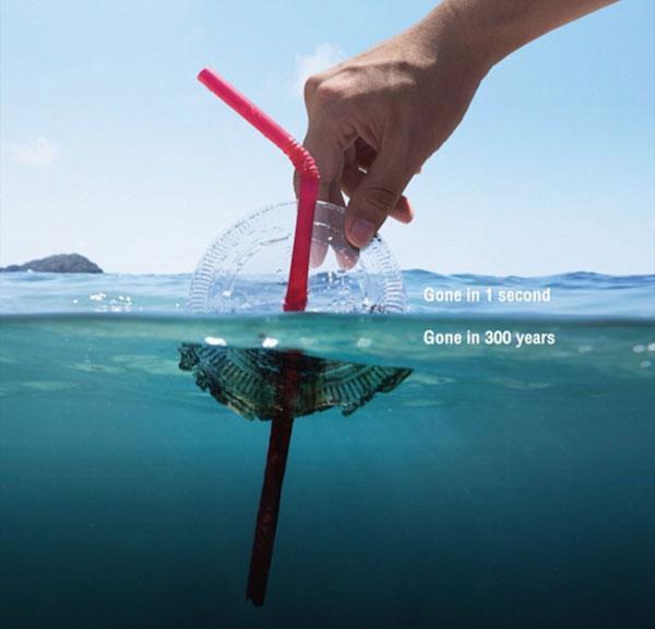 Thời gian phân hủy của nhựa có thể kéo dài đến 300 năm