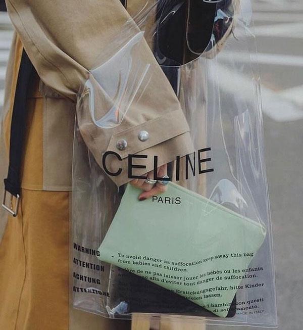 Sản phẩm túi nhựa được ứng dụng trong ngành thời trang