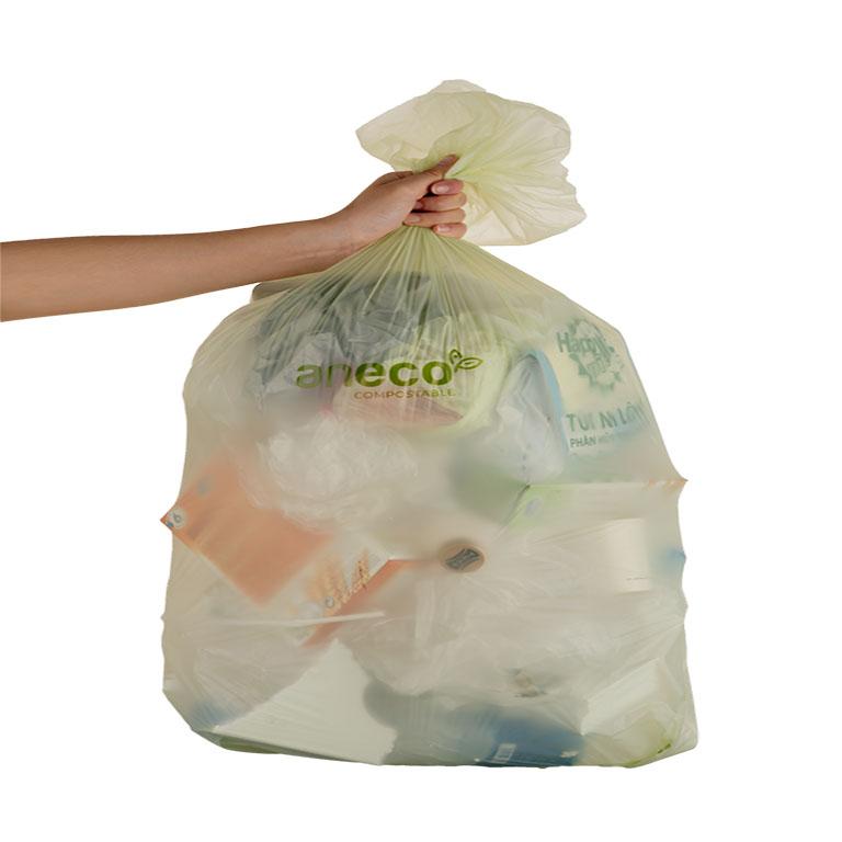 Túi rác cỡ lớn của AnEco giúp bạn chứa được lượng rác lớn