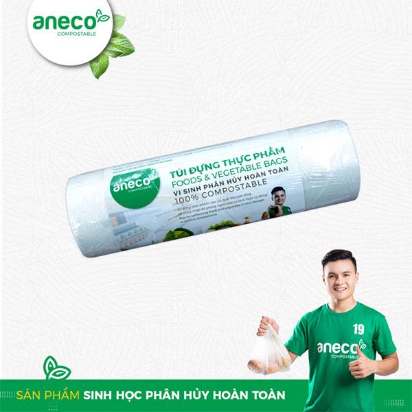 Túi PHSH hoàn toàn của AnEco được sản xuất từ nhựa PBAT