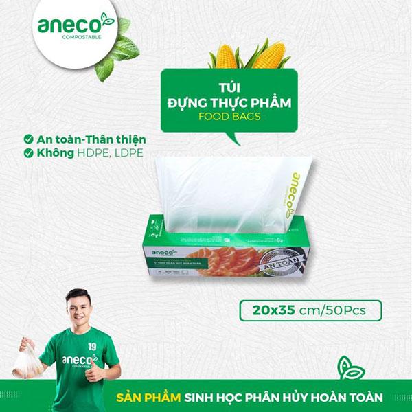 Túi sinh học phân hủy hoàn toàn AnEco thân thiện với môi trường, an toàn cho người sử dụng